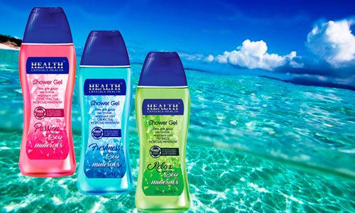 гели для душа Crystals Health passion relax freshness