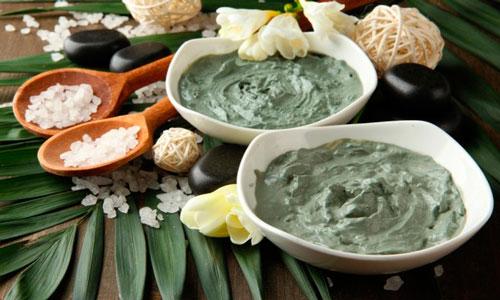 солевая маска с зеленой глиной картинка